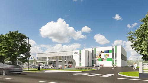 Мультиспортивный центр с бассейнами Н2О в Тростянце